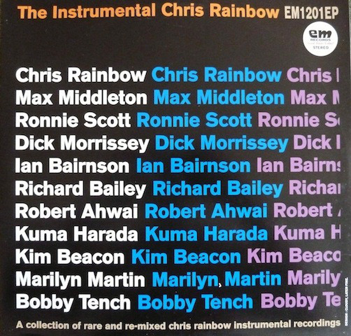 Dancing In The Street Tonight Ep Instrumental Chris Rainbow, The Vinyl LP